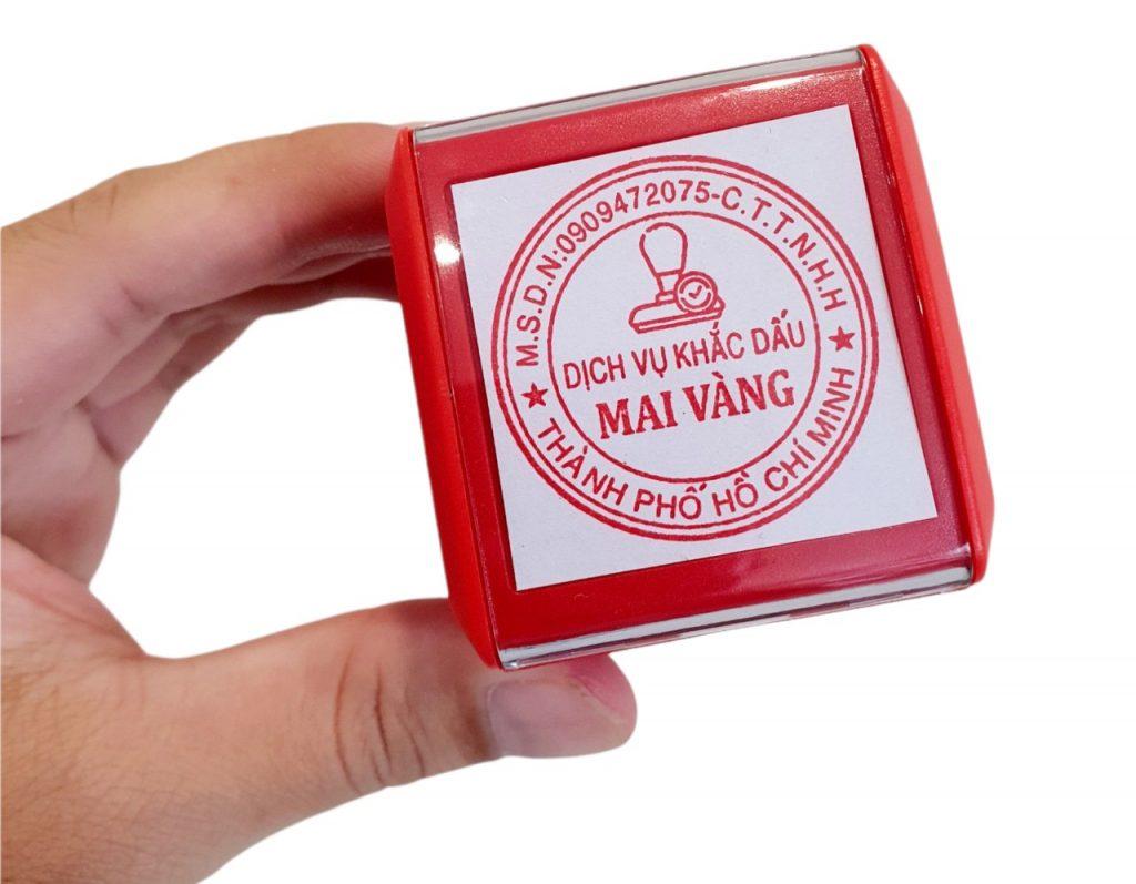 Cung cấp dịch vụ khắc con dấu tròn công ty mới thành lập tại quận Gò Vấp TP.HCM.