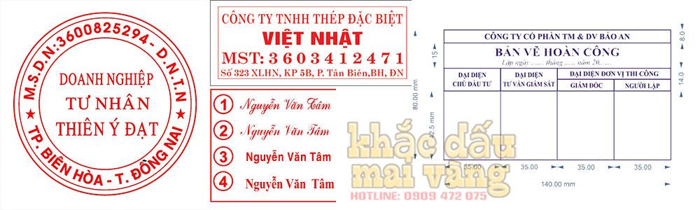 Dịch vụ khắc dấu Bắc Ninh của Mai Vàng