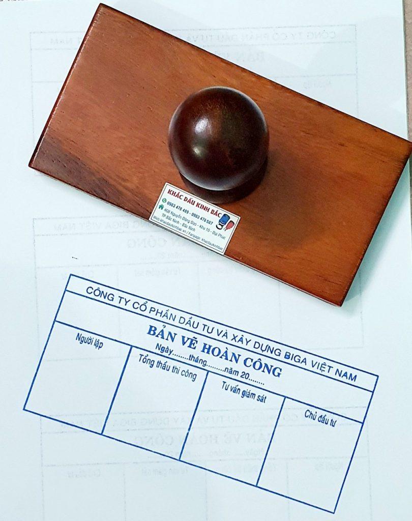 Khắc con dấu bản vẽ hoàn công theo quy chuẩn mới, chuyên dịch vụ phân phối sản phẩm con dấu chất lượng tại Bắc Ninh