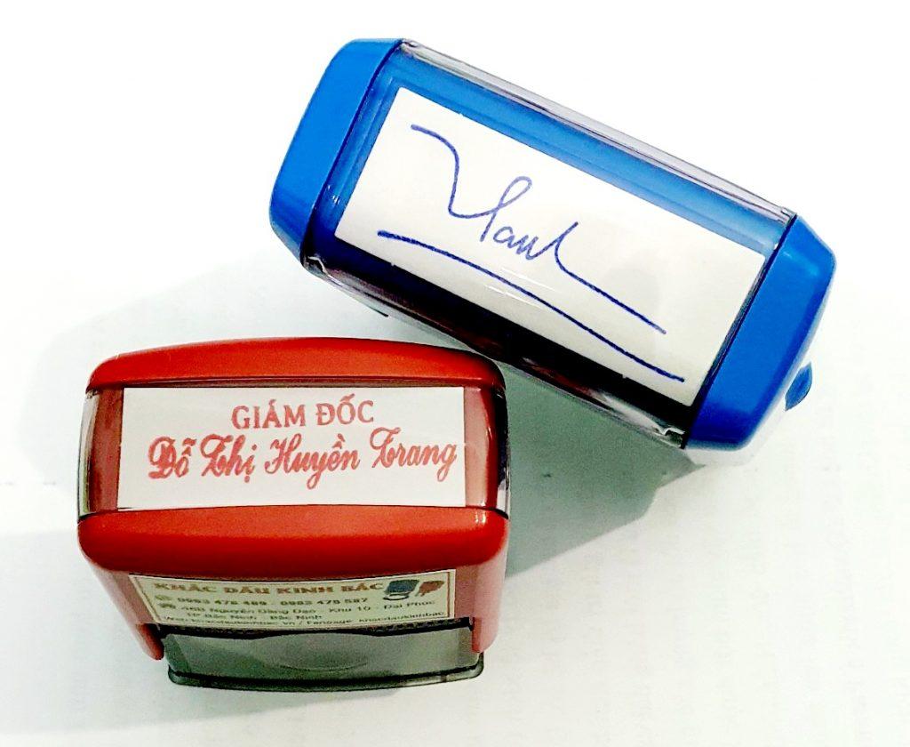 Khắc con dấu chữ ký thiết kế theo yêu cầu phù hợp với từng tên khách hàng, chuyên dịch vụ khắc dấu chữ ký tên tại Bắc Ninh