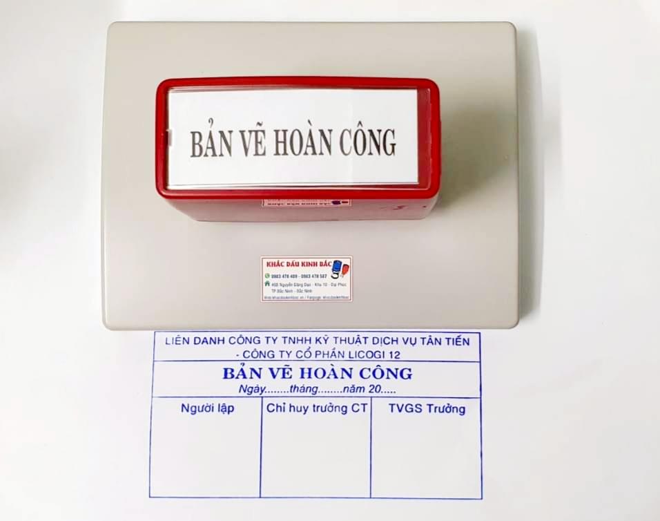Nhận làm con dấu hoàn công theo quy chuẩn chính xác, dịch vụ khắc dấu giá rẻ tại Bắc Ninh.